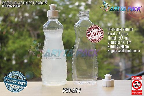 Botol plastik minuman 450ml sabun cair tutup tetes