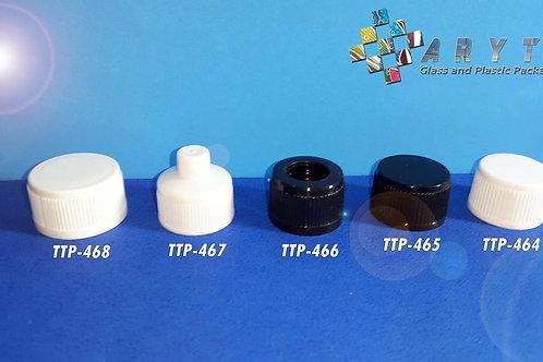 Tutup plastik hitam bolong ukuran 18mm