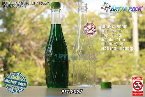 Botol plastik minuman 630ml angsa tutup segel hijau