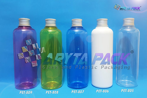 Botol plastik PET Joni natural 250ml  tutup kaleng silver