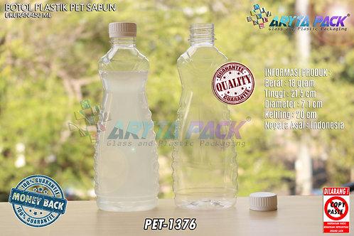 Botol plastik minuman 450ml sabun cair tutup ulir putih