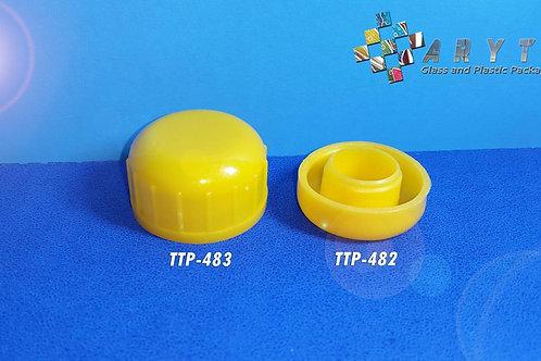 Tutup sumbat kecap plastik kuning