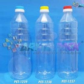 Botol plastik pet 1liter aqua tutup dop segel kuning