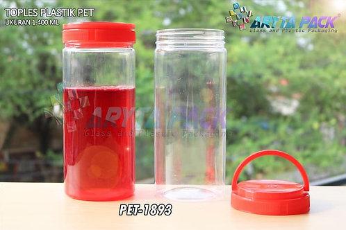 Toples plastik pet 1.4liter tutup ulir handle merah