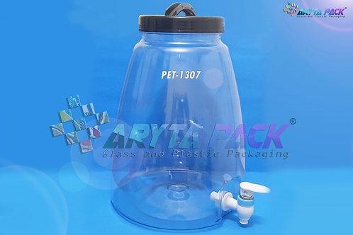 Galon plastik PET 9 liter natural tutup ulir hitam