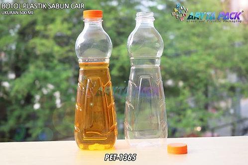 Botol plastik minuman 500ml sabun cair tutup ulir orange