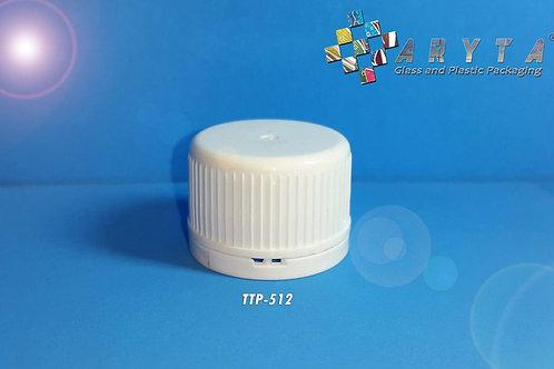 Tutup plastik putih rapat segel ukuran 28mm