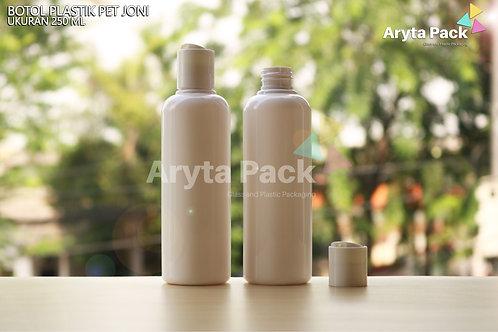 Botol plastik PET Joni 250ml putih susu tutup press on putih susu