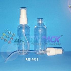 Botol plastik PET 60ml lena natural tutup spray