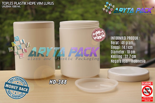 Toples plastik HDPE 1 liter vim lurus