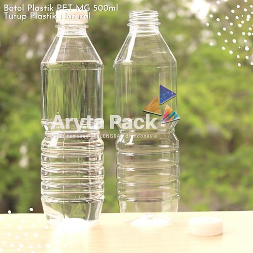 Botol plastik minuman 500ml mg tutup segel natural
