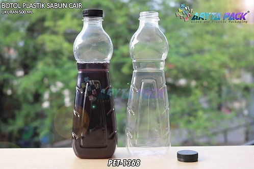 Botol plastik minuman 500ml sabun cair tutup ulir hitam