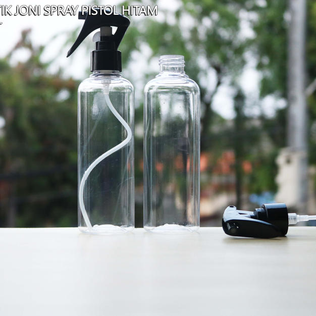Botol joni 250ml spray pistol hitam.JPG