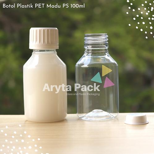 Botol plastik PET 100ml PS tutup segel