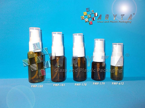 Botol kaca coklat 10ml new tutup pump