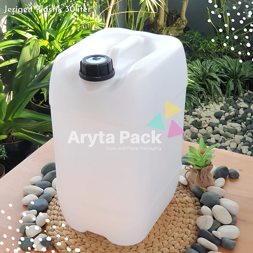 Jerigen plastik HDPE 30 liter kotak natural type B