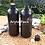 Thumbnail: Botol plastik HDPE 1 liter labor hitam tutup hitam
