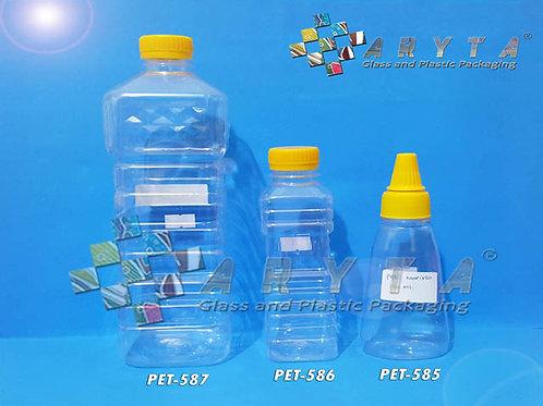 Botol plastik PET 250ml Minyak goreng tutup kuning