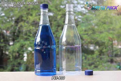Botol plastik minuman 1 liter angsa tutup segel biru