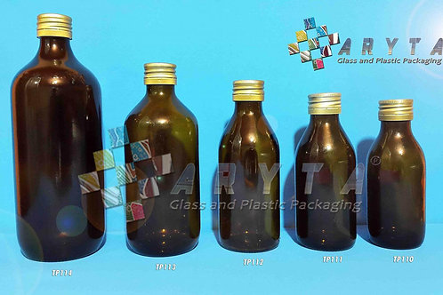 Botol kaca coklat 300ml new tutup kaleng