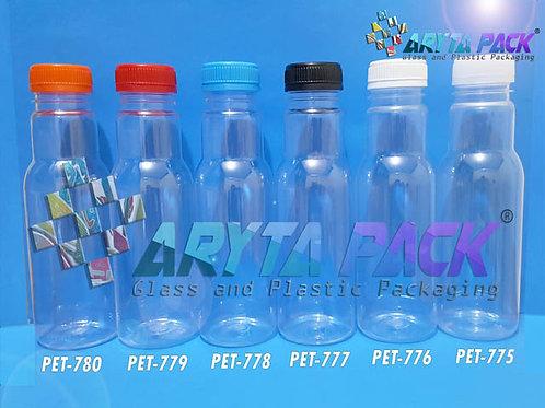 Botol plastik minuman 350ml jus cikita tutup biru segel