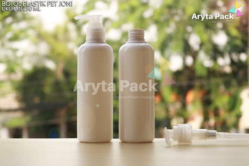 Botol plastik PET 250ml Joni putih susu tutup pump natural