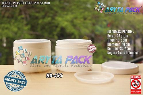 Toples plastik HDPE 500ml potscrub