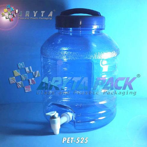 Galon plastik PET 10 liter biru C kotak + keran