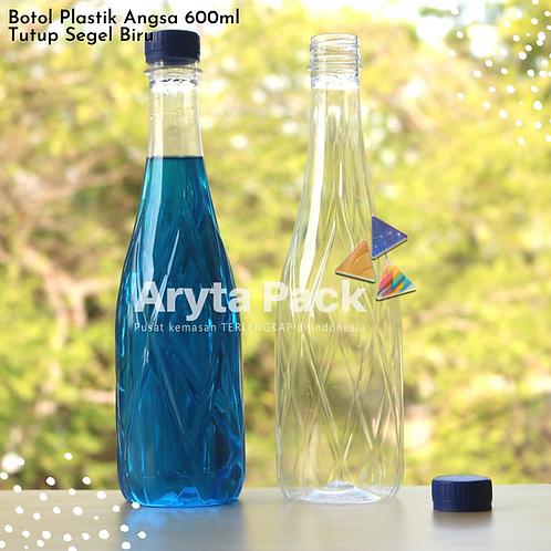 Botol plastik minuman 630ml angsa tutup segel biru