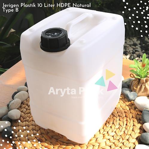 Jerigen plastik HDPE 10 liter natural type B