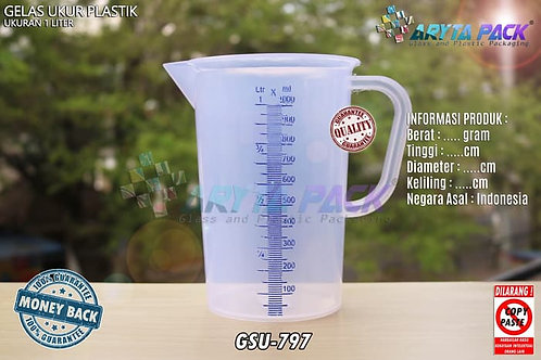 Gelas ukur plastik 1 Liter
