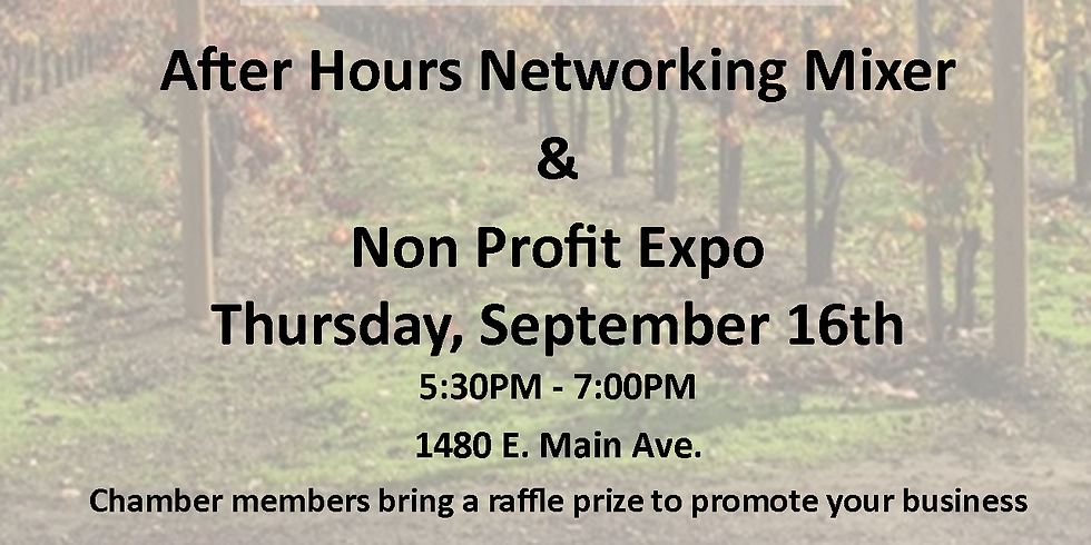 September After-Hours Mixer and Non-Profit Expo @ Guglielmo Winery