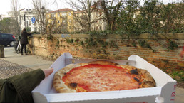 First Pizza in Italy!