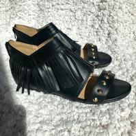 Studded Fringe Sandals