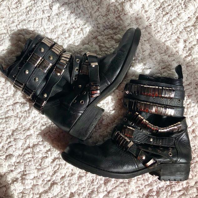 Leather ASOS Biker Boots