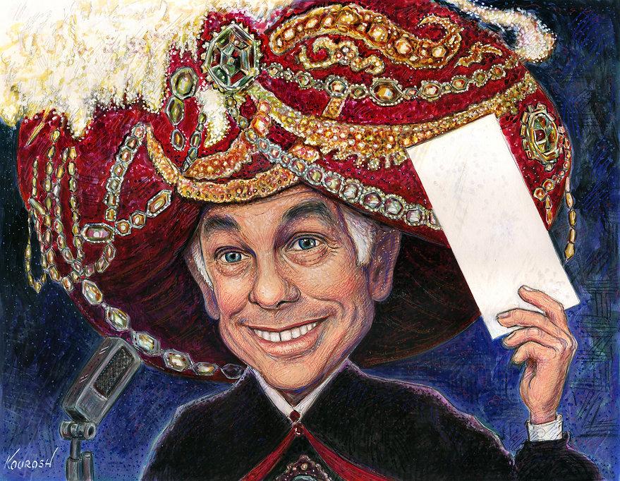 Johnny Carson caricature illustrtion by Kourosh