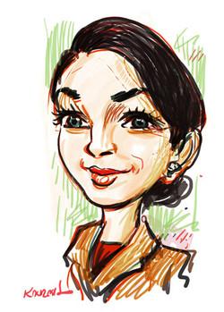 Digital_Caricature_Brunette_Lady