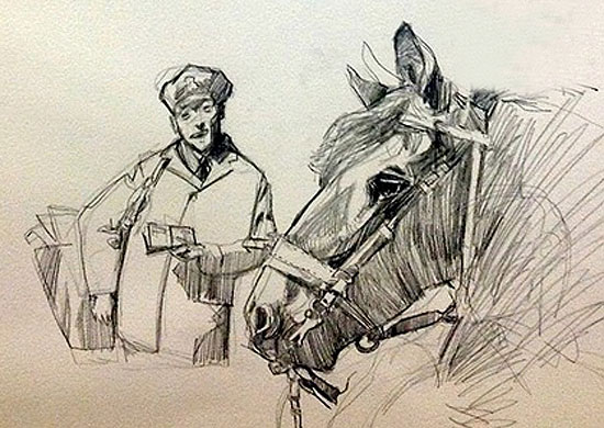 Mohamad_Sketch_Postman_Horse