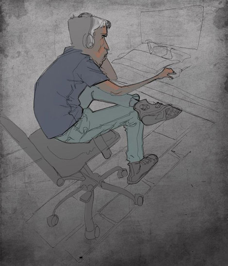 Mohamad_Sketch_Man_at_Computer