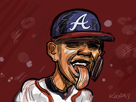 Caricature of the day - Ronald Acuña Jr.