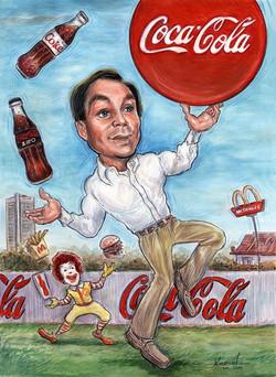 coca cola creative caricatures