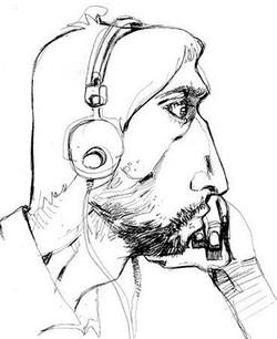 Mohamad_Sketch_Caricature_Man_Headphones