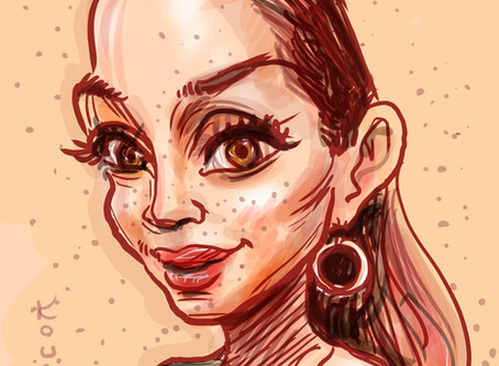 Caricature of the day - Madelynne Ross