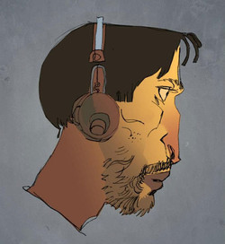 Mohamad_Caricature_Man_Headphones_Color