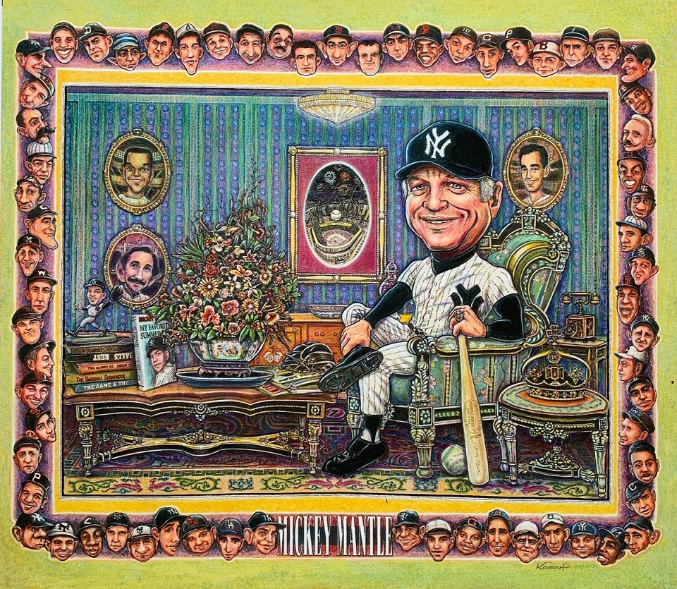 mickey mantle creative caricatures