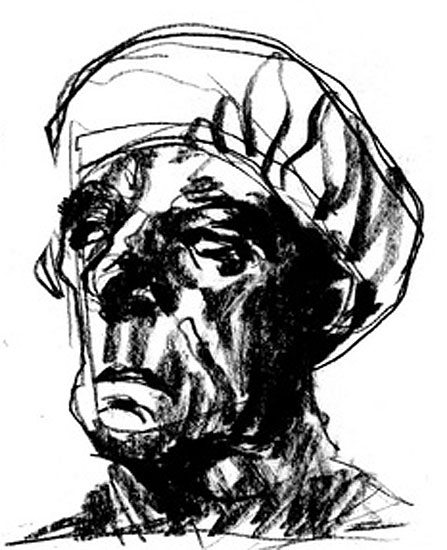 Mohamad_Sketch_Old_Man_Turban