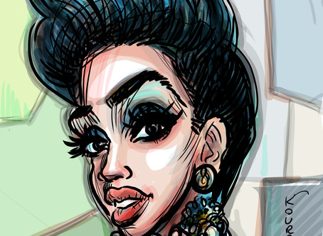 Caricature of the day - Cardi B.