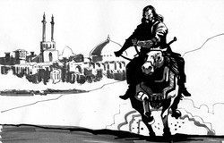 Mohamad_Storyboard_Sketch_Man_Riding_Horse