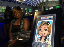 Digital Caricature at Andretti