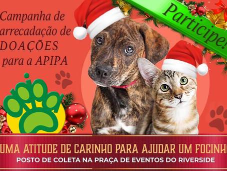 NatAU Animal: posto de coleta de doações no Riverside Shopping